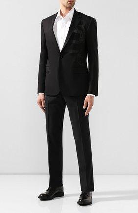 Мужской хлопковый пиджак RALPH LAUREN черного цвета, арт. 798744110 | Фото 2