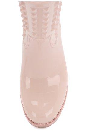 Женские резиновые сапоги rockstud VALENTINO розового цвета, арт. RW2S0366/PB4   Фото 5 (Подошва: Платформа; Каблук высота: Без каблука, Низкий; Женское Кросс-КТ: Без шнуровки-ботинки; Материал внутренний: Натуральная кожа, Текстиль; Высота голенища: Низкие; Каблук тип: Устойчивый; Статус проверки: Проверено; Материал внешний: Резина)