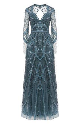 Женское платье-макси ZUHAIR MURAD голубого цвета, арт. DRS19033/EMDA002 | Фото 1