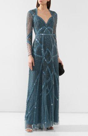 Женское платье-макси ZUHAIR MURAD голубого цвета, арт. DRS19033/EMDA002 | Фото 2