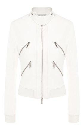 Женская кожаная куртка JITROIS белого цвета, арт. BL0US0N CHRIS B0RD C0TE APS EPAIS | Фото 1
