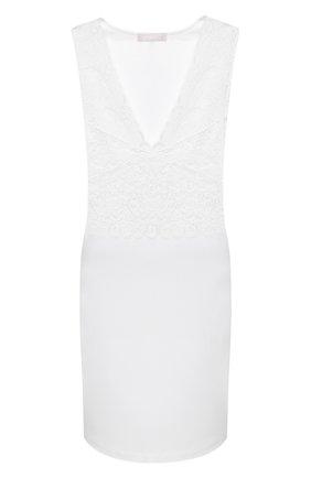 Женская хлопковая сорочка HANRO белого цвета, арт. 077929 | Фото 1