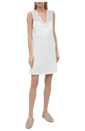 Женская хлопковая сорочка HANRO белого цвета, арт. 077929 | Фото 2
