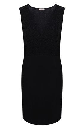 Женская хлопковая сорочка HANRO черного цвета, арт. 077929 | Фото 1