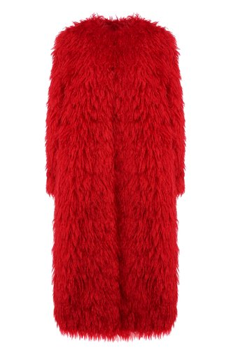 Пальто из смеси шерсти и хлопка