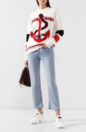 Женские джинсы RAG&BONE голубого цвета, арт. W2645I449IYB   Фото 2