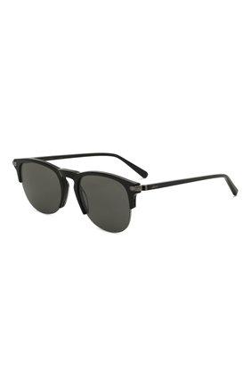 Мужские солнцезащитные очки BRIONI черного цвета, арт. 0DA200/P3ZAC   Фото 1