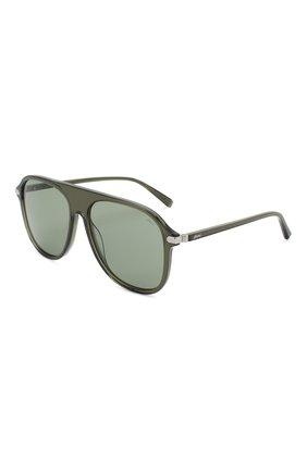Мужские солнцезащитные очки BRIONI зеленого цвета, арт. 0DA100/P3ZAC | Фото 1