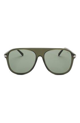 Мужские солнцезащитные очки BRIONI зеленого цвета, арт. 0DA100/P3ZAC | Фото 2