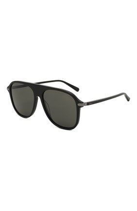 Мужские солнцезащитные очки BRIONI черного цвета, арт. 0DA100/P3ZAC | Фото 1