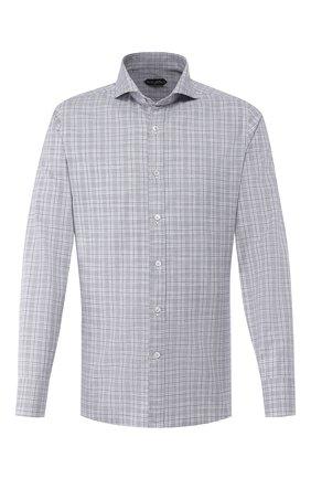 Мужская хлопковая сорочка TOM FORD черно-белого цвета, арт. 5FT020/94F1FE | Фото 1