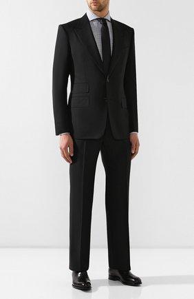 Мужская хлопковая сорочка TOM FORD черно-белого цвета, арт. 5FT020/94F1FE | Фото 2
