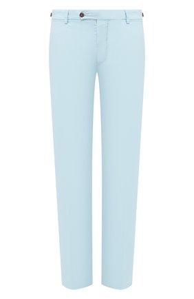 Мужской брюки из смеси хлопка и шелка ANDREA CAMPAGNA голубого цвета, арт. SC/1 FIBB/BN0002BX | Фото 1