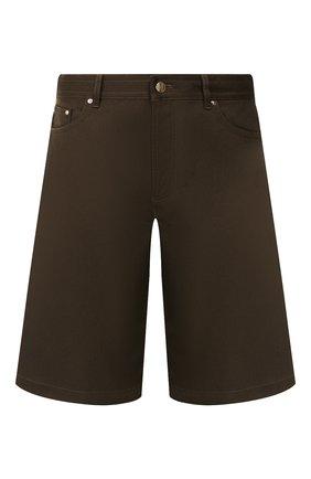 Мужские хлопковые шорты BOTTEGA VENETA хаки цвета, арт. 572996/VF4T0 | Фото 1