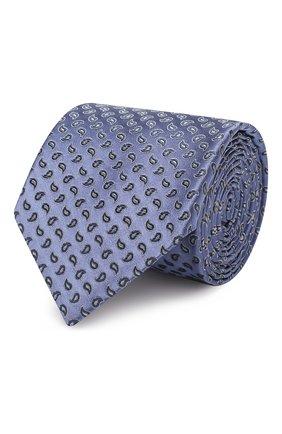 Мужской шелковый галстук BRIONI сиреневого цвета, арт. 061R00/08405 | Фото 1