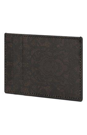 Мужской кожаный футляр для кредитных карт ALEXANDER MCQUEEN хаки цвета, арт. 550820/04YEN | Фото 2