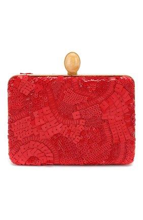 Женский клатч rogan OSCAR DE LA RENTA красного цвета, арт. 19SH700SEQ | Фото 1