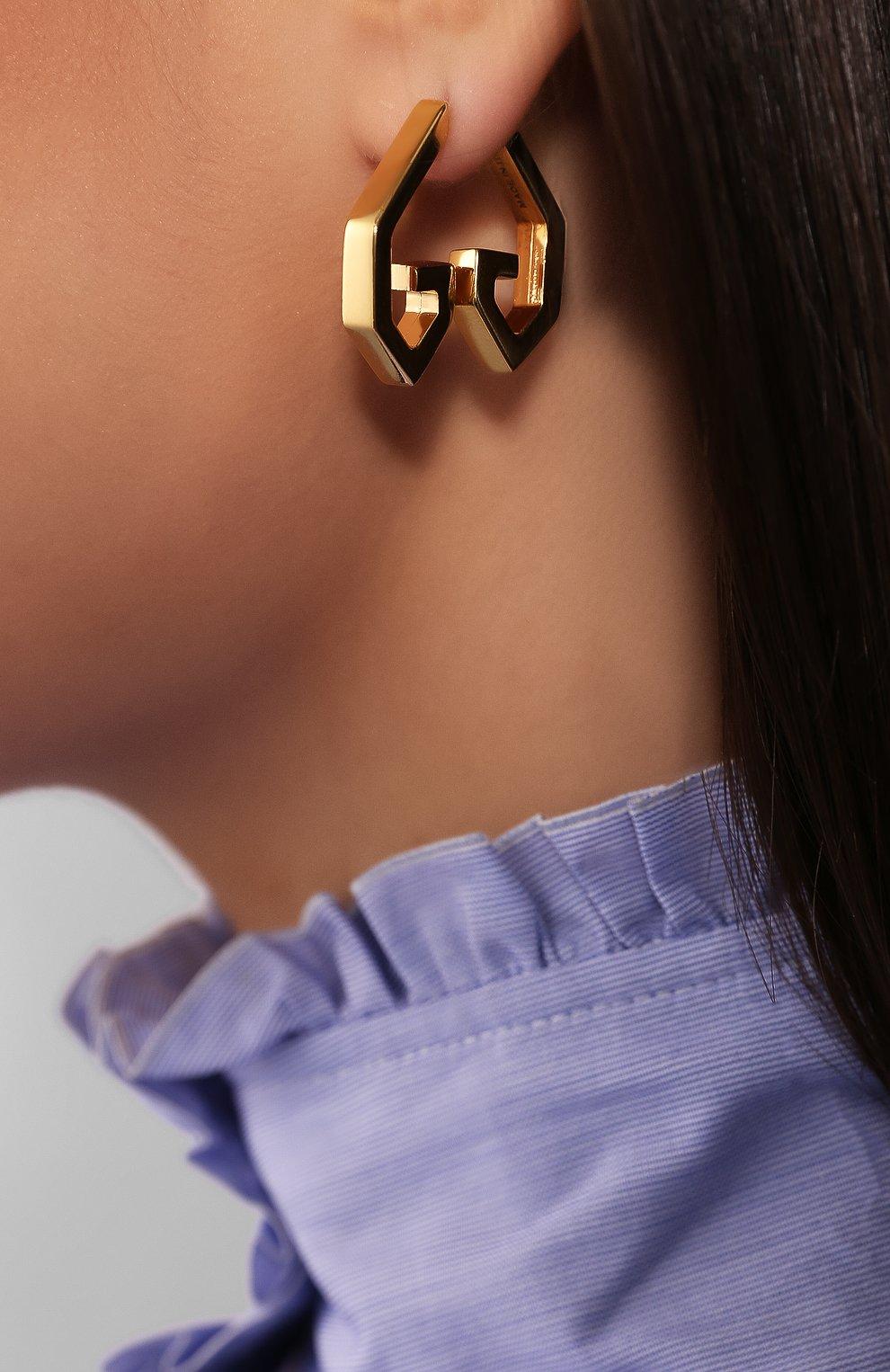 Серьги GV Heart Givenchy золотые | Фото №2