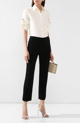 Женские шерстяные брюки GIORGIO ARMANI черного цвета, арт. 9SHPP04Q/T00P8 | Фото 2