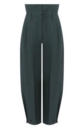 Хлопковые брюки Givenchy зеленые   Фото №1