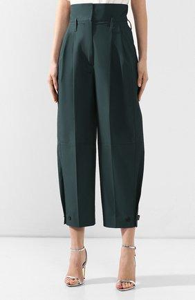 Хлопковые брюки Givenchy зеленые   Фото №3
