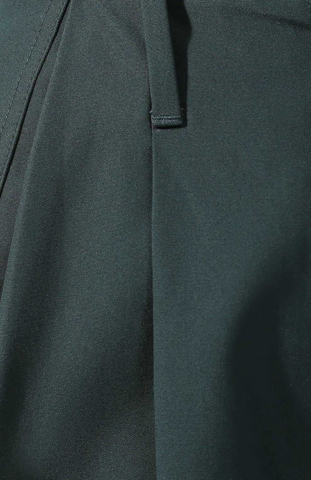 Хлопковые брюки Givenchy зеленые   Фото №5