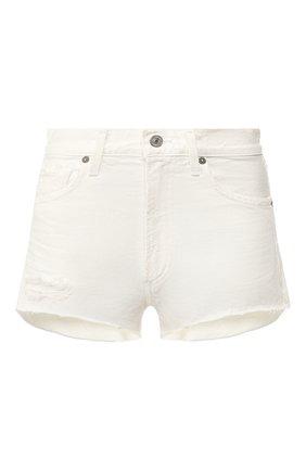 Женские джинсовые шорты CITIZENS OF HUMANITY белого цвета, арт. 990B-814 | Фото 1