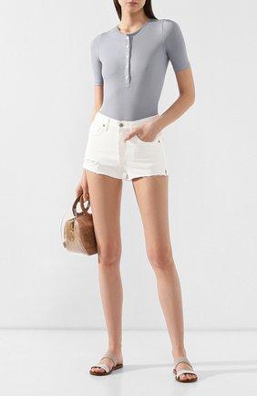 Женские джинсовые шорты CITIZENS OF HUMANITY белого цвета, арт. 990B-814 | Фото 2