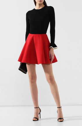 Женская юбка из смеси шерсти и шелка VALENTINO красного цвета, арт. SB3RA5051CF | Фото 2