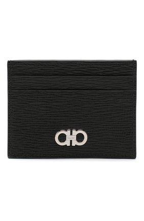Мужской кожаный футляр для кредитных карт SALVATORE FERRAGAMO черного цвета, арт. Z-0704956 | Фото 1