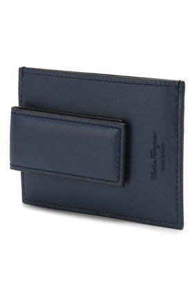 Мужской кожаный футляр для кредитных карт SALVATORE FERRAGAMO черного цвета, арт. Z-0704956 | Фото 2