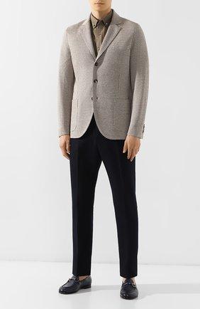 Мужской пиджак из смеси льна и хлопка LORO PIANA коричневого цвета, арт. FAI5858 | Фото 2