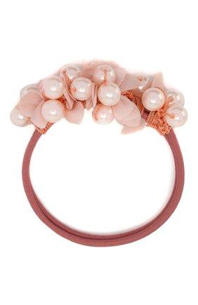 Детская резинка pearl&petals JUNEFEE розового цвета, арт. 5201 | Фото 1