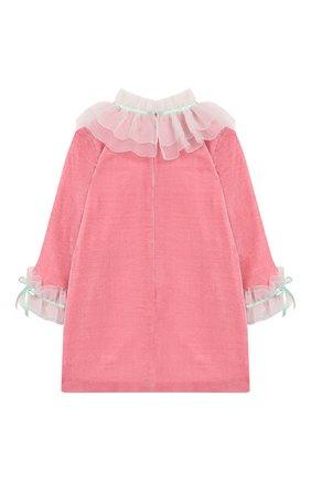 Детское платье BIBIONA розового цвета, арт. ABS21FW18.. | Фото 2
