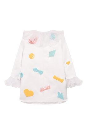 Детское платье BIBIONA белого цвета, арт. ABS23FW18_ | Фото 2