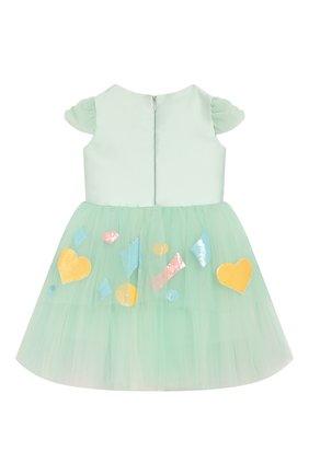 Детское платье BIBIONA светло-зеленого цвета, арт. ABS24FW18. | Фото 2