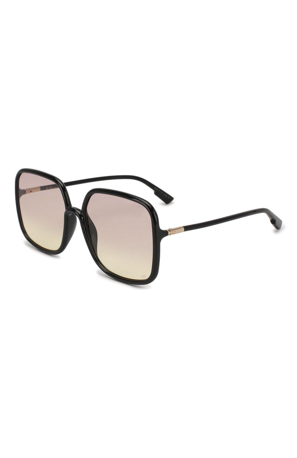 Женские солнцезащитные очки DIOR черного цвета, арт. S0STELLAIRE1 807 VC | Фото 1