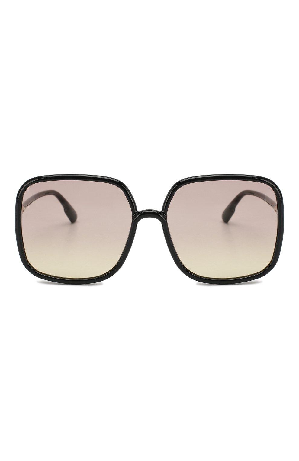 Женские солнцезащитные очки DIOR черного цвета, арт. S0STELLAIRE1 807 VC | Фото 2