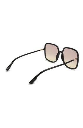 Женские солнцезащитные очки DIOR черного цвета, арт. S0STELLAIRE1 807 VC | Фото 3
