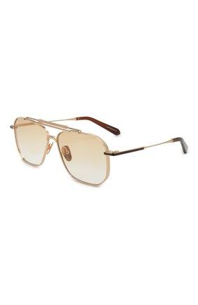 Мужские солнцезащитные очки EQUE.M золотого цвета, арт. YATAGARASU/SLG-L | Фото 1