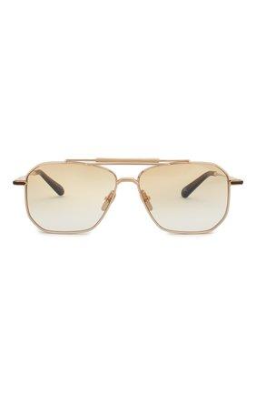 Мужские солнцезащитные очки EQUE.M золотого цвета, арт. YATAGARASU/SLG-L | Фото 2
