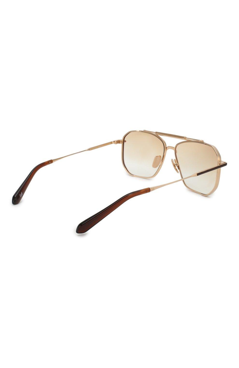 Мужские солнцезащитные очки EQUE.M золотого цвета, арт. YATAGARASU/SLG-L | Фото 3