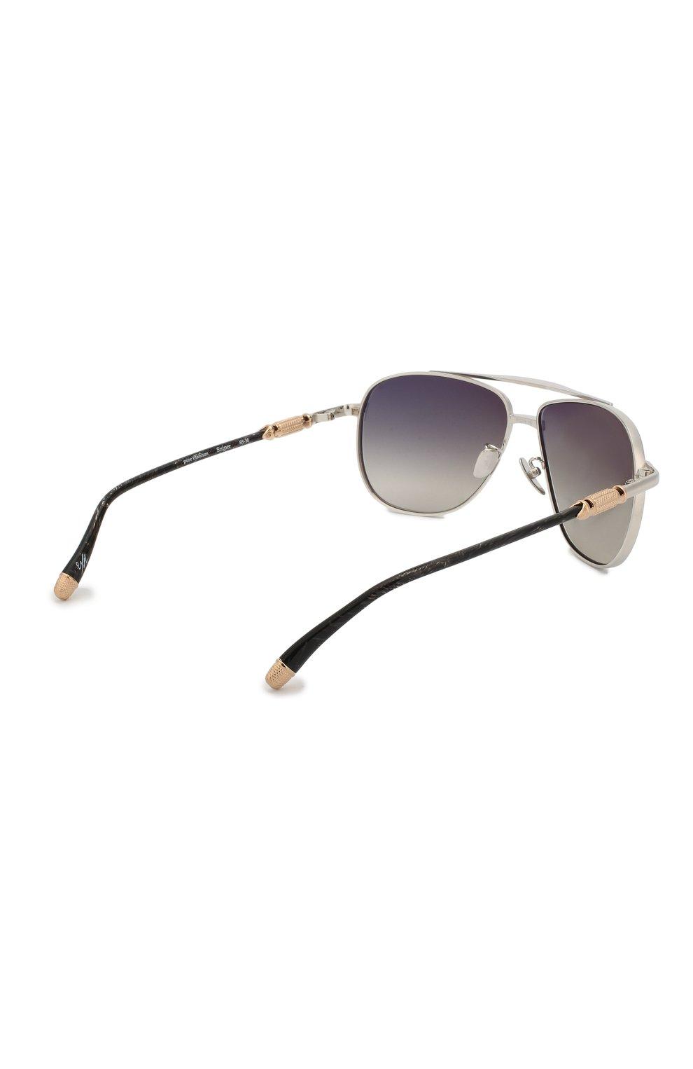 Мужские солнцезащитные очки EQUE.M серебряного цвета, арт. SNIPER/SS-M   Фото 3