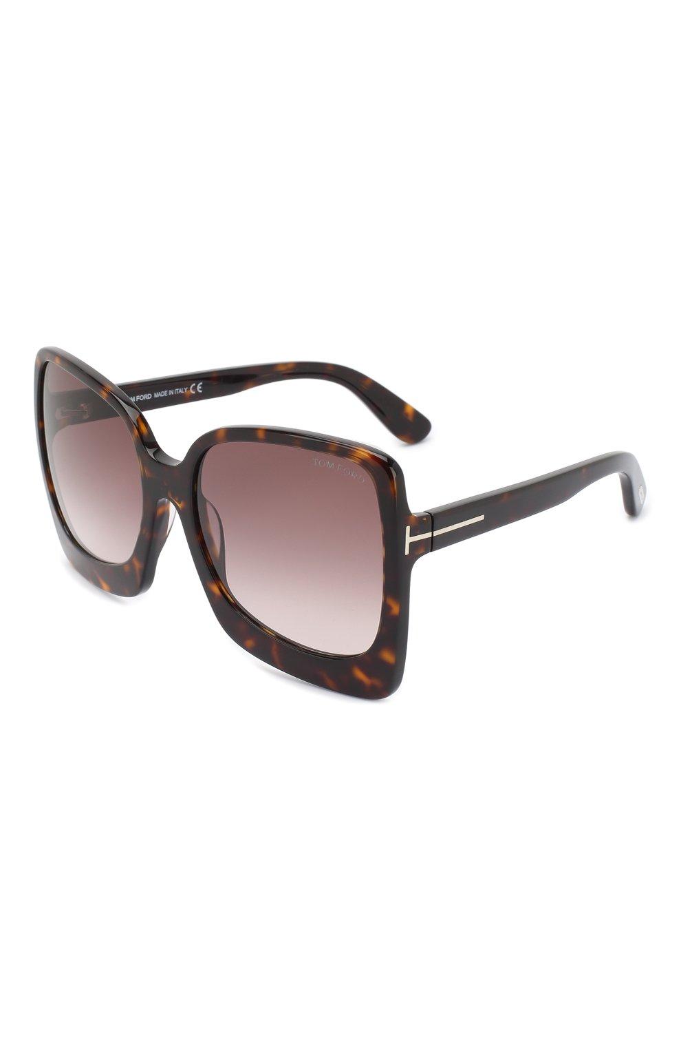 Женские солнцезащитные очки TOM FORD коричневого цвета, арт. TF618 | Фото 1