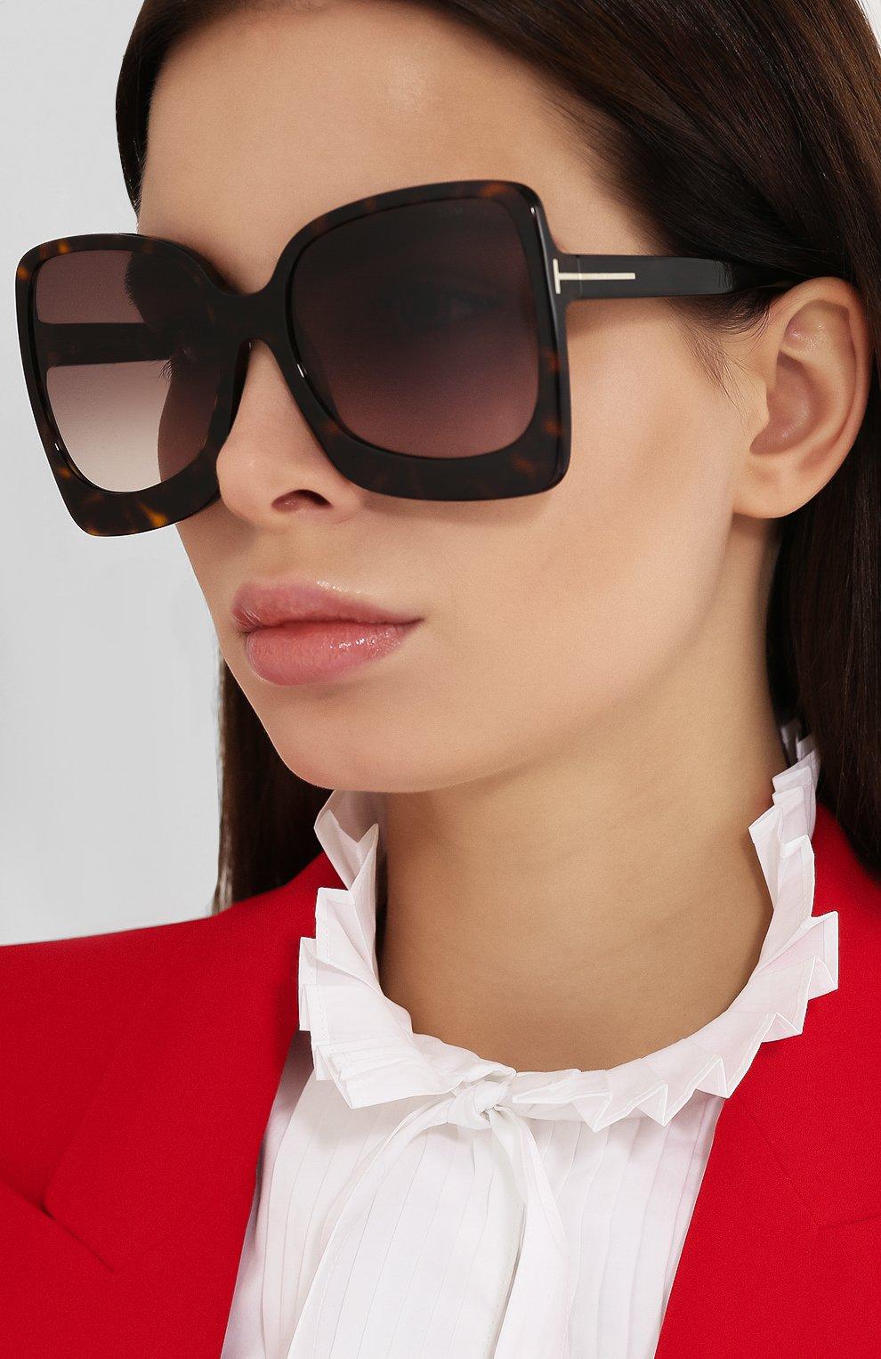 Женские солнцезащитные очки TOM FORD коричневого цвета, арт. TF618 | Фото 2