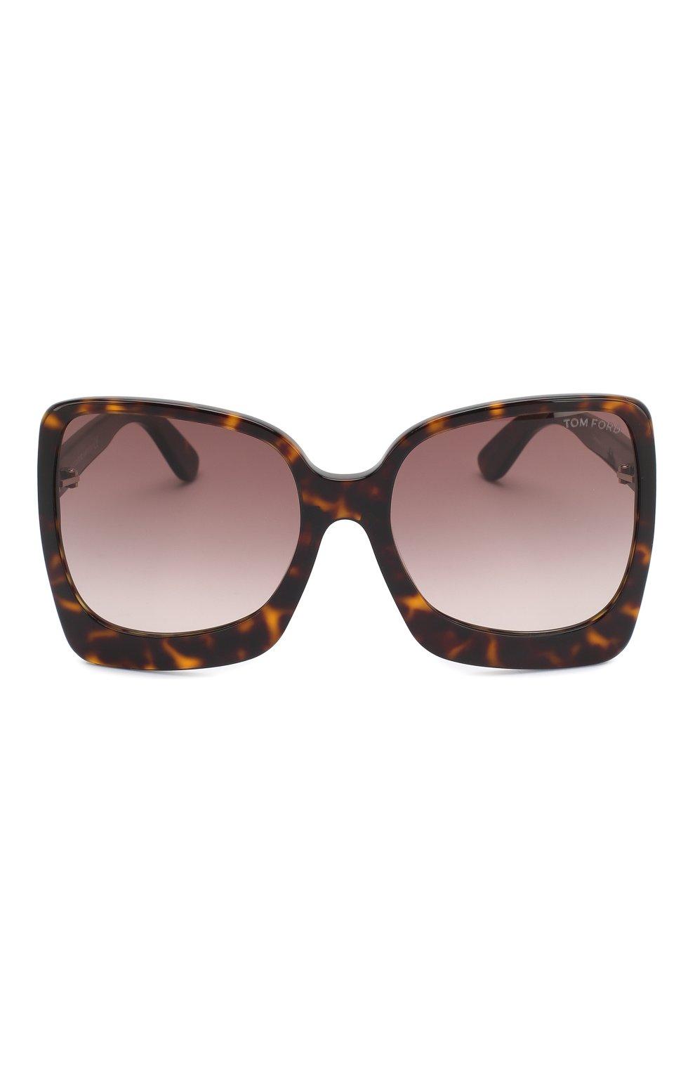 Женские солнцезащитные очки TOM FORD коричневого цвета, арт. TF618 | Фото 3