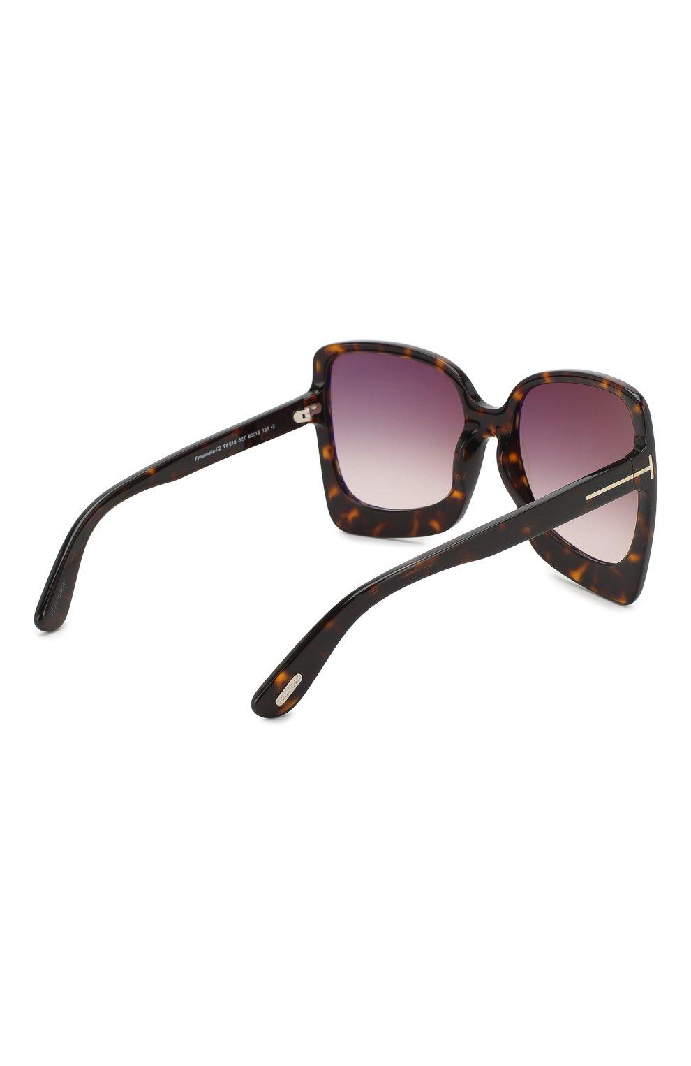 Женские солнцезащитные очки TOM FORD коричневого цвета, арт. TF618 | Фото 4
