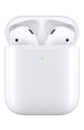 Мужские наушники airpods with wireless charging case APPLE белого цвета, арт. MRXJ2RU/A | Фото 1