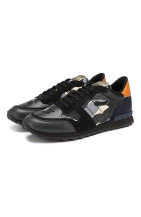 Кожаные кроссовки Valentino Garavani Rockrunner | Фото №1