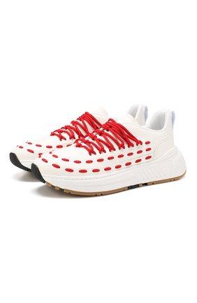 Мужские кожаные кроссовки BOTTEGA VENETA белого цвета, арт. 578305/VIFH0 | Фото 1